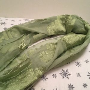Green Moschino scarf, made in Italy